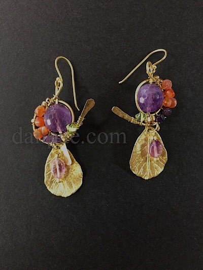 stunning earrings with heritage design